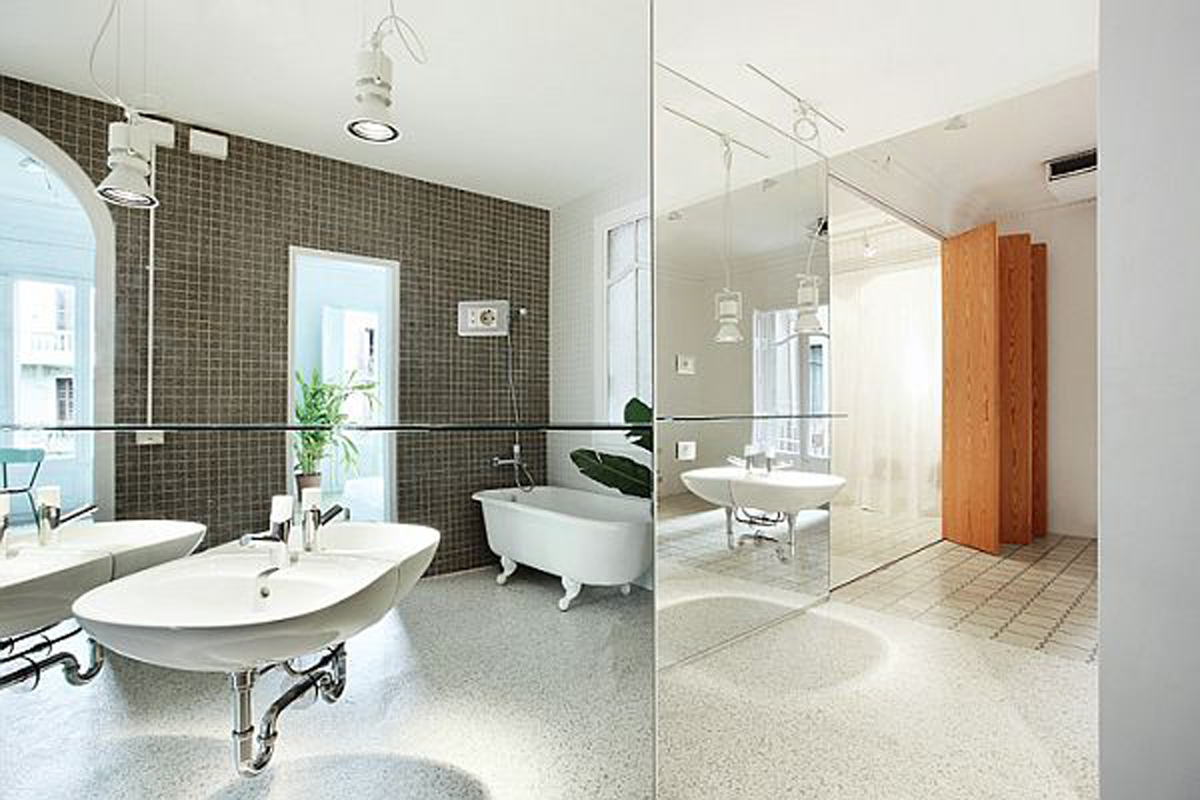 Renovated Apartment with Awesome Luxury Design Bathroom