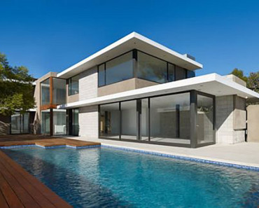 Modernity and Luxurious House Design in Exquisite Residence the Evans House Pool