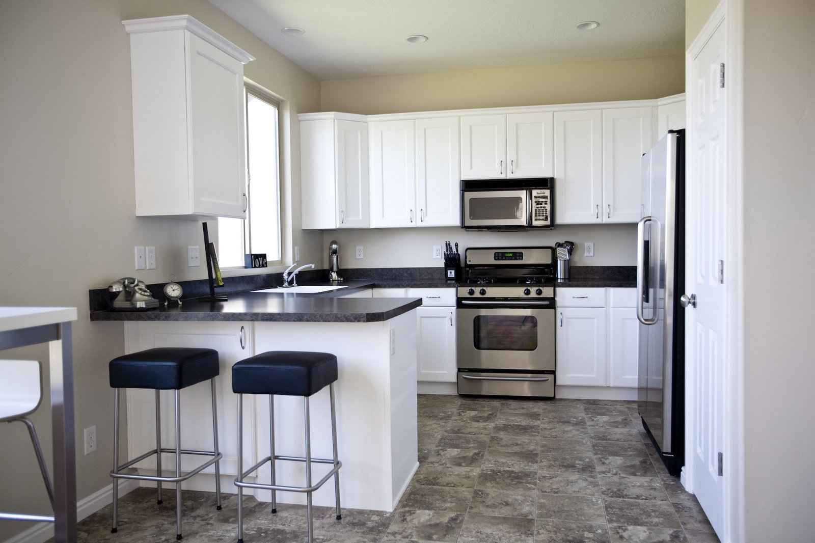 Black And White Decorating cool 10+ black and white kitchen floor decorating design of best