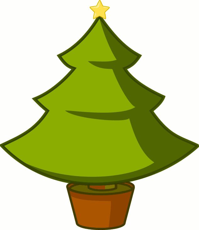 christmas tree clip art 02