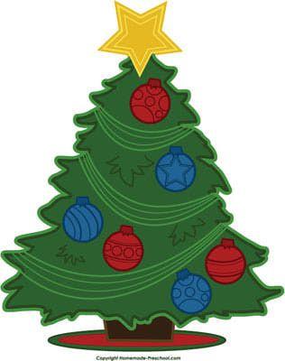christmas tree clip art 06