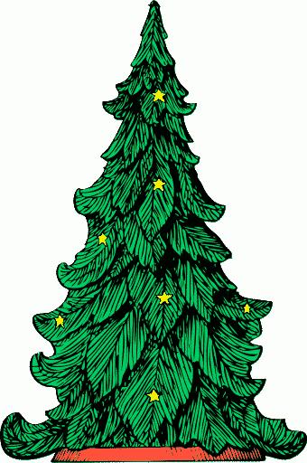 christmas tree clip art 07