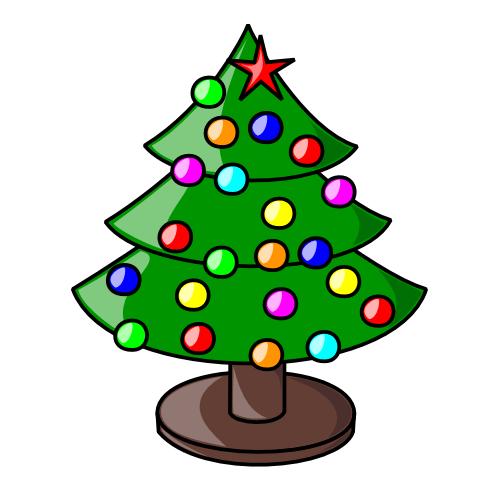 christmas tree clip art 08