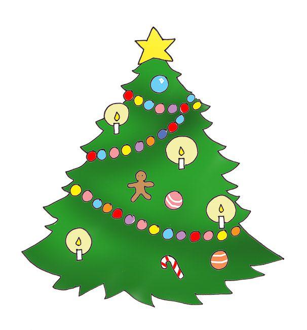 christmas tree clip art 09