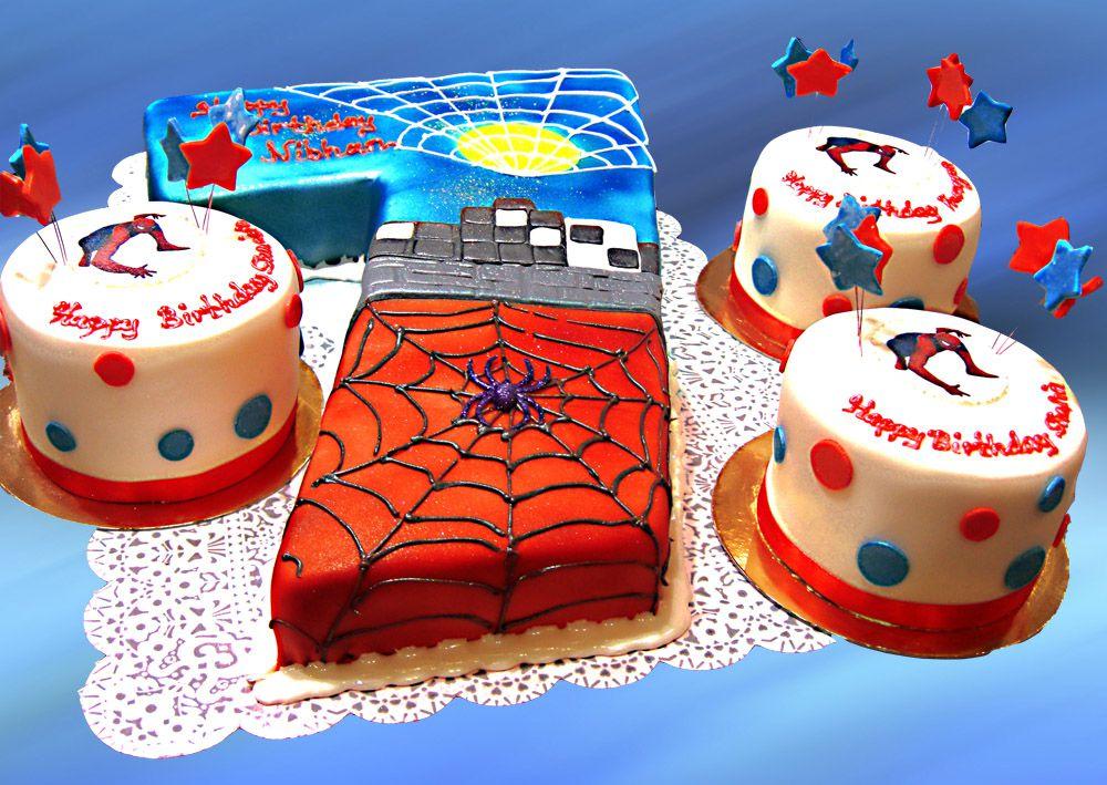 spiderman sample cake