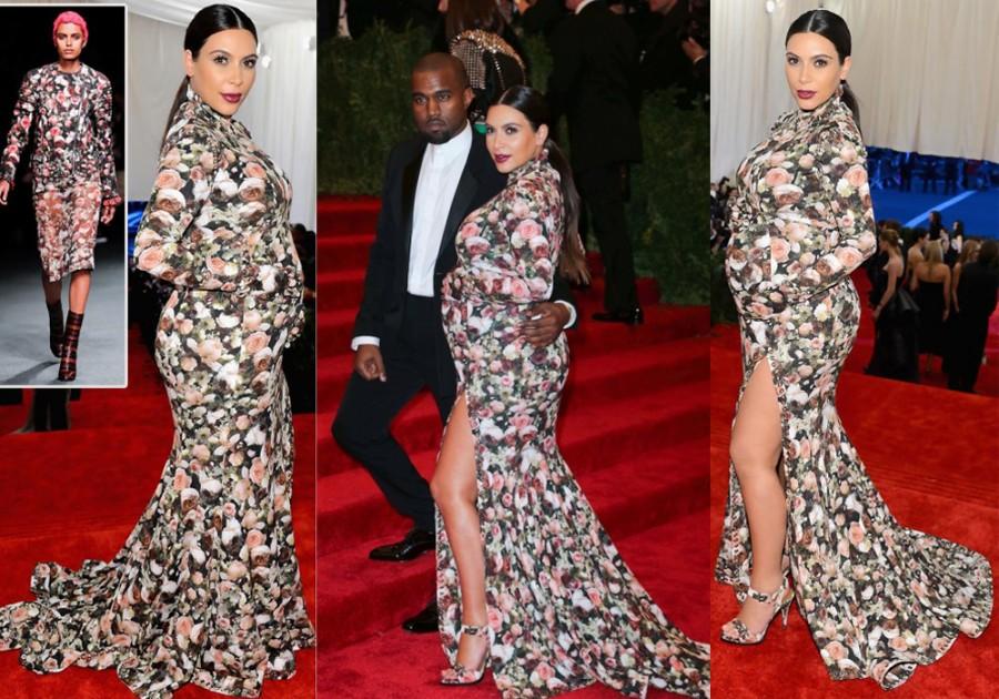 kim kardashian dress pregnant