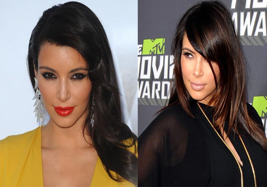 kim kardashian hairstyles 2015