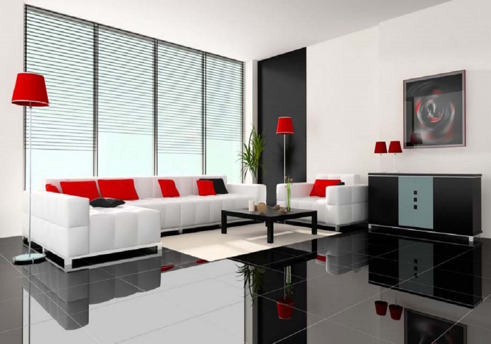 Success key featuring minimalist living room interior - Modern house interior design ...