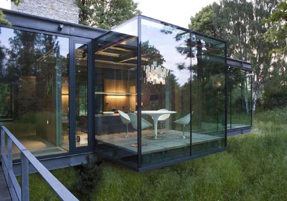modern glass home architecture