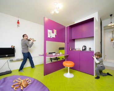 Fascinating-Modern-Orange-Round-Chair-Amazing-Kids-Bedrooms-And-Furniture-Design-Ideas