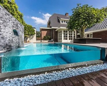 Luxurious Rear Garden Swimming Pool Design