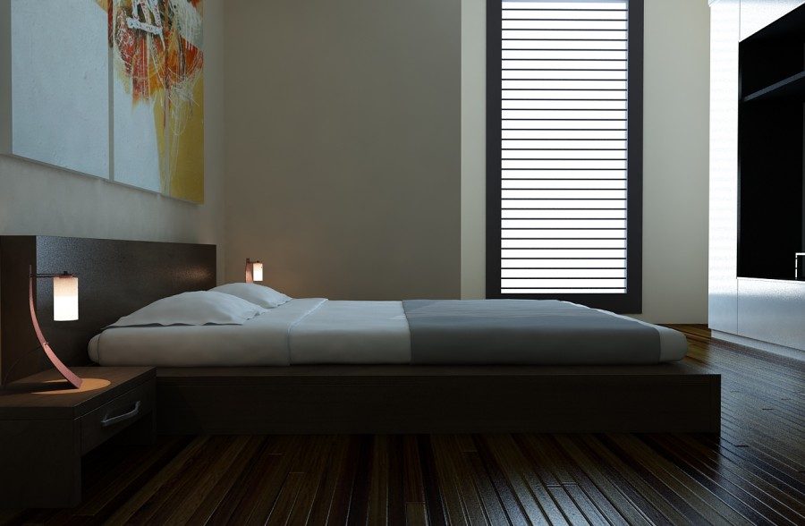 Simple-Contemporary-Bedroom-Design-Wooden-Floor