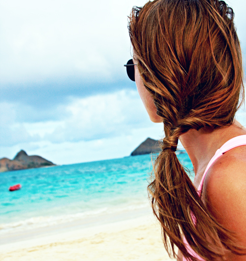 beach hairstyle