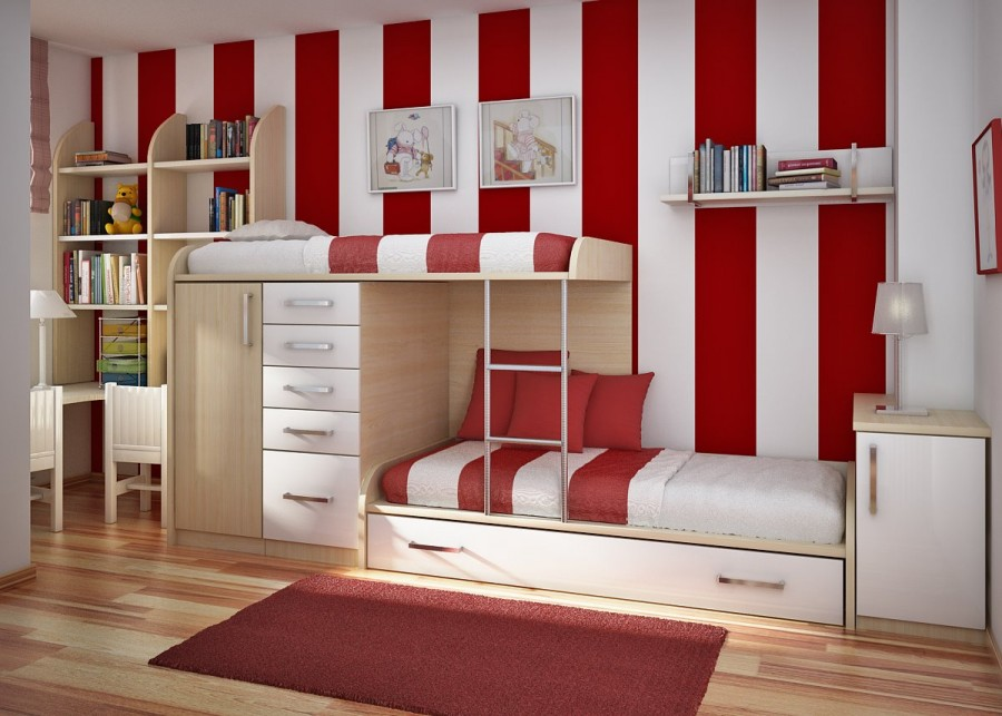 Cheerful-Red-and-White-Accents-Bedroom-Design-Ideas