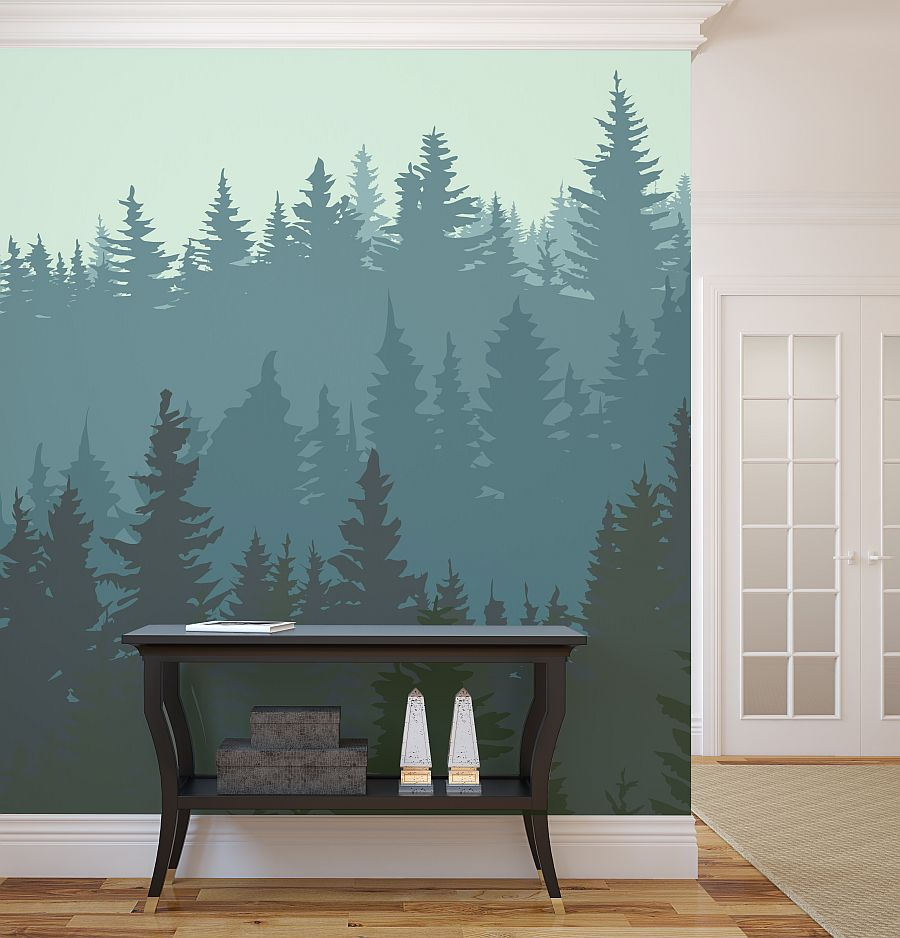 Wall murals ideas with several revealed themes for winter for Winter wall murals