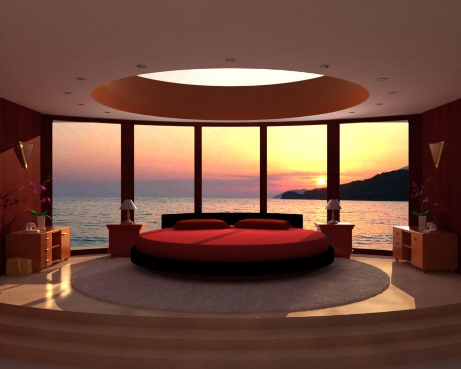 Red-Unique-Bedroom-Design-Idea