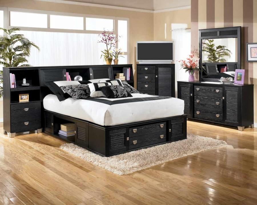 Unique-Black-and-White-Bedroom-Design-Idea