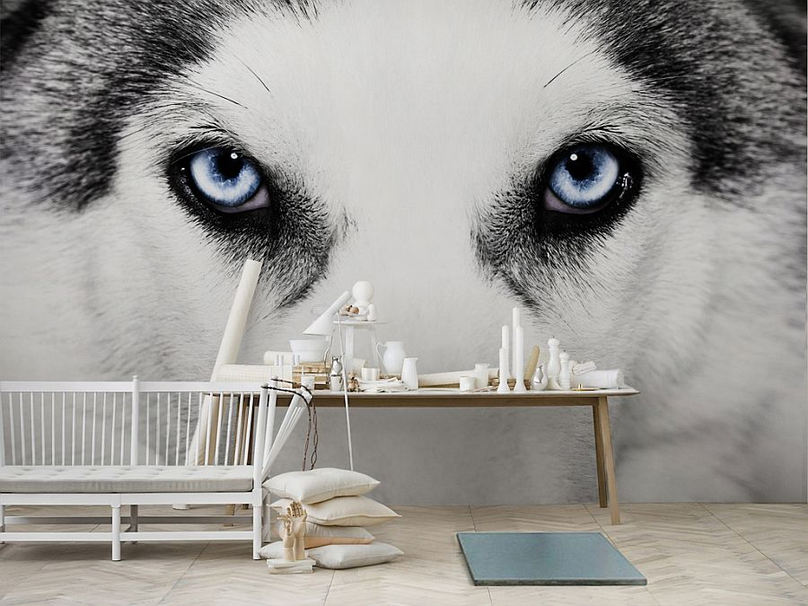 Wolf Black And White Wall Mural Painting Part 35