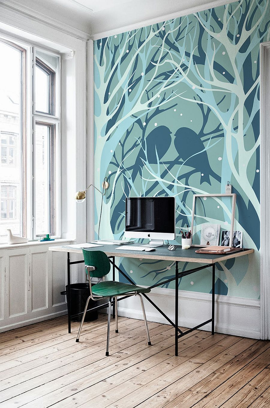 wall murals ideas with several revealed themes for winter workspace design with wall murals painting