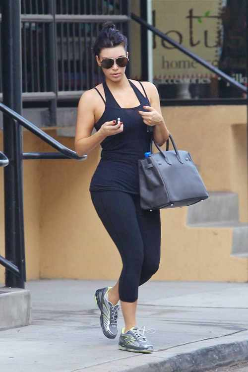 Kim Kardashian Workout Images