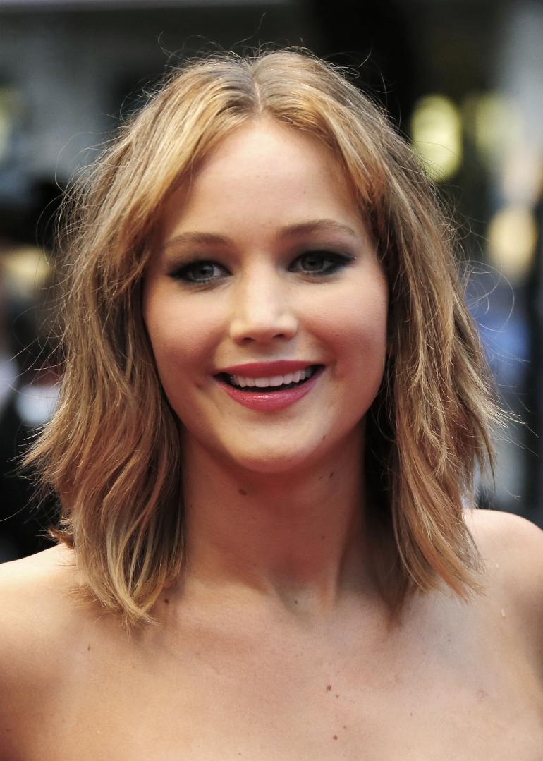 Jennifer Lawrence Medium Hairstyle