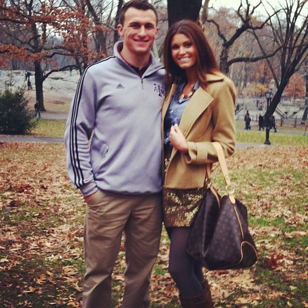 Johnny Manziel And His Girlfriend