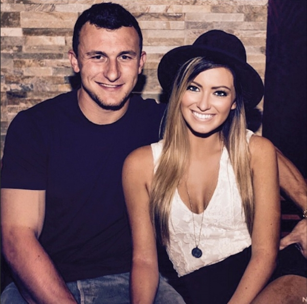 Johny Manziel and Colleen Crowley