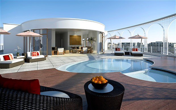 Penthouse at One Zero Ocean in Santa Monica with Pool