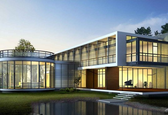 Modern Big Home Without Roofs