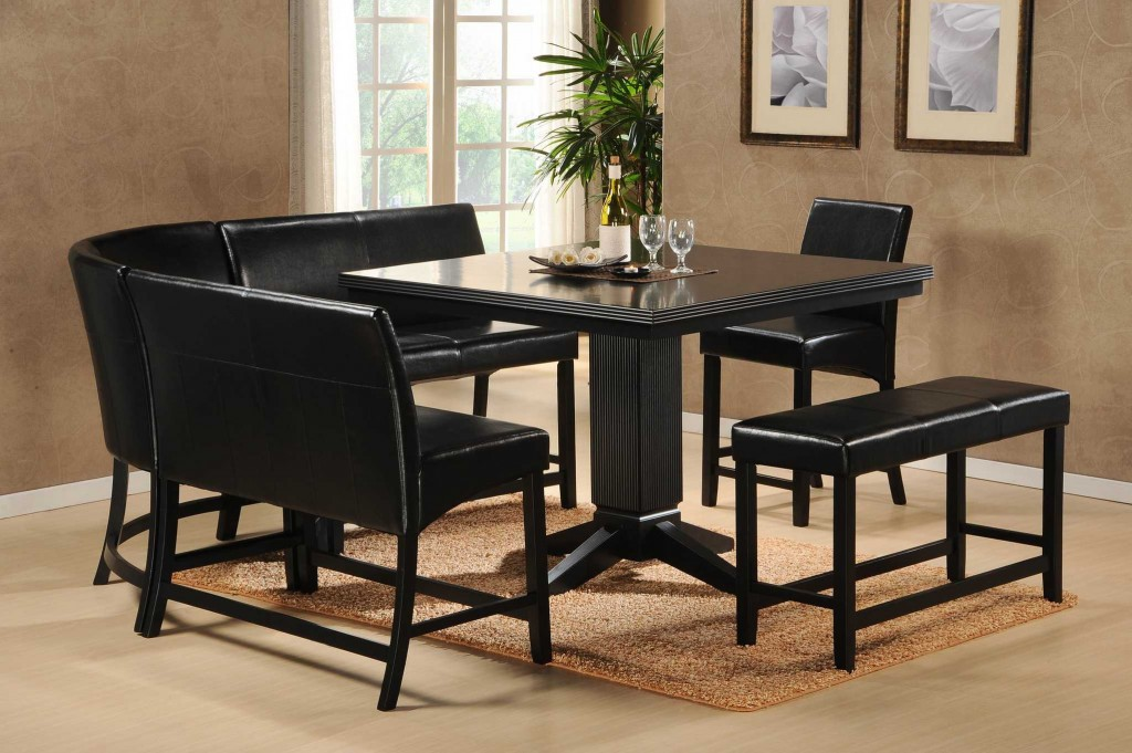 Siple And Minimalist Dining Room Set With Dark