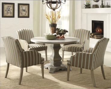 Small-Dining-Room-Set-Ideas-with-Round-Table-and-Four-Chairs