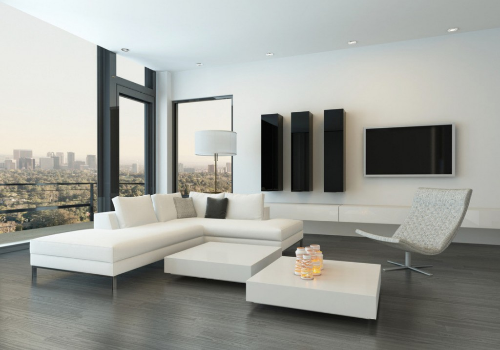 Simple And Minimalist Modern White Living Room Design  Part 34