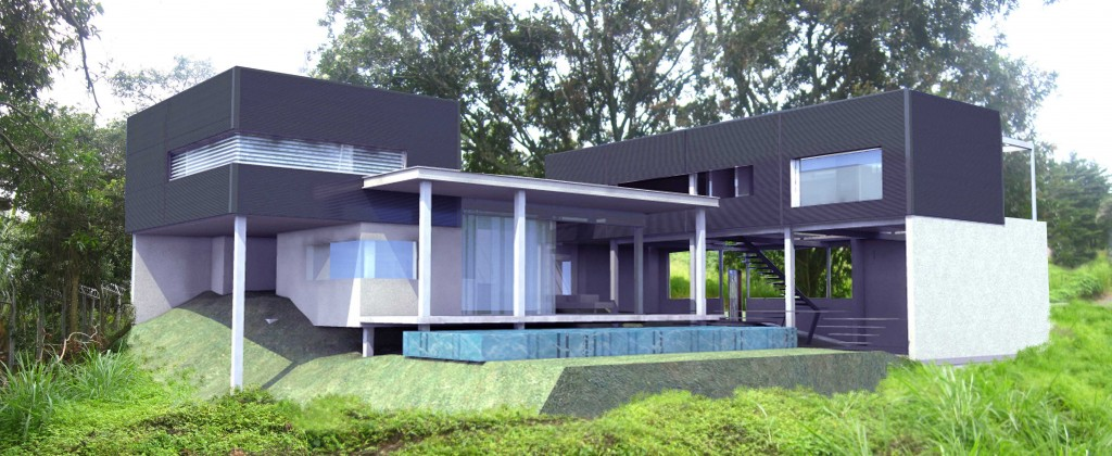 elegant purple tropical modern architecture - Modern Tropical House Design